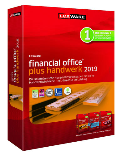 Lexware financial office plus handwerk Abo-Version 2019, dt., V19.00, DVD-Version